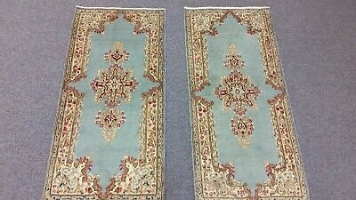 A Pair Of Fine Persian Oriental Area Scatter Rug 2X4
