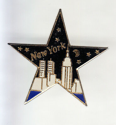 Rare Pins Pin's .. Tourisme Usa New York N.y  City Twin Towers Empire State ~Co
