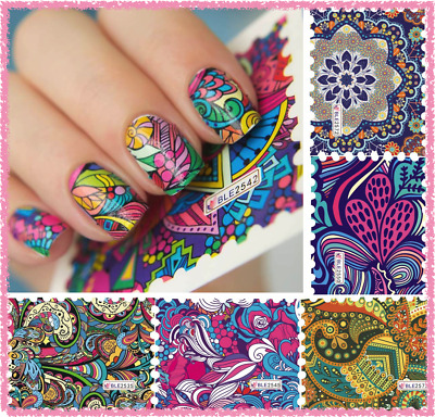 Nail Art Water Transfer Stickers-Decals-Adesivi-Decorazione Unghie-JACQUARD