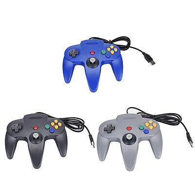 Wired USB Controller For Nintendo N64 Joystick Game Gamepad Joypad ForN64 PC