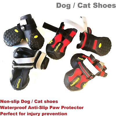 Non-slip dog shoes cat shoes PomPreece Waterproof Anti-Slip Paw Protector