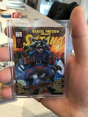 2016 Upper Deck Marvel Masterpieces What If Rocket Raccoon #51 021/999 Joe Jusko