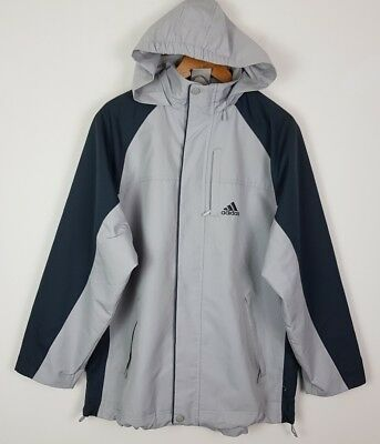 0b36931c4741 VINTAGE RETRO 90s ADIDAS SPORTS BOLD HOODED TOP JACKET COAT ATHLETIC SPORT