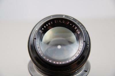 Carl Zeiss Jena Tessar 15cm f4.5 lens, optically nice