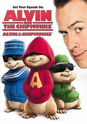 Alvin and the Chipmunks (DVD, 2007) Justin Long, David Cross, Jason Lee   LN