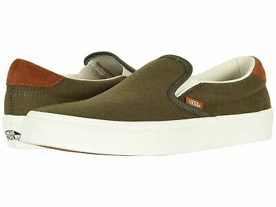 d431466325  VN0A38GUU4N  Vans Classic Slip-On 59 Dusty Flannel Olive Womens Mens Shoes