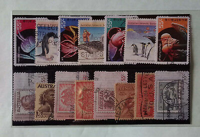 Australia  Stamp On Stamp Animals   Thematic  Stamps Lot Of 15 Diff Used