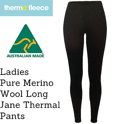 Women's Pure Merino Wool Knit Long Janes Thermal Underwear Thermals Pants