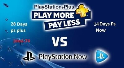 Play Station Plus 28 Days + 14 Days Ps Now (no code).