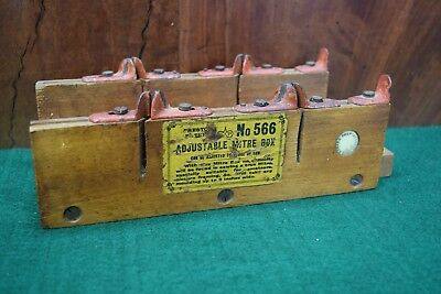 Antique Collectable Timber Edward Preston #566 Mitre Box Woodworking Old Tool