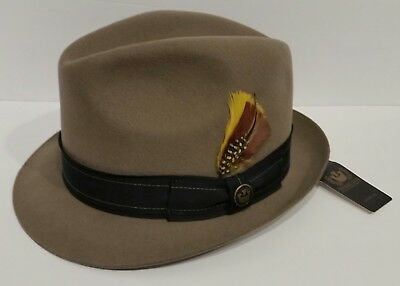 00c8e8a7c66 GOORIN BROS Butterfingers PUDDY 100% Wool Fedora Hat Size Large 22