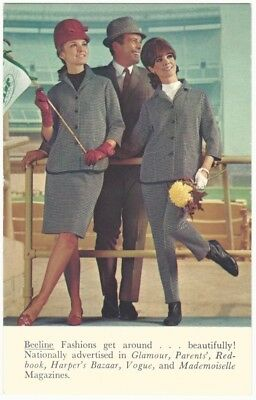 1960s Beeline Fashions Sporty Clothes for Men & Women Advertising Postcard