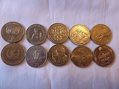 Australian 20 cent commemorative coin collection 1995 to 2016 circ coins set