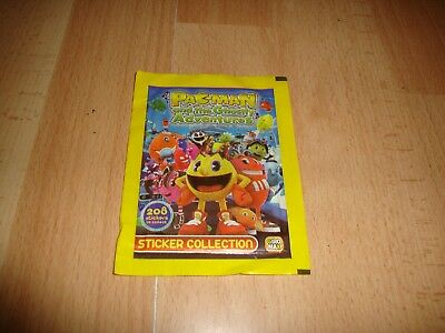 Pac-Man And The Ghostly Adventures Sobre Con Cromos Adhesivos 2012 De Giromax