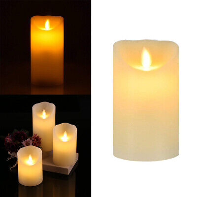 Set of 3 Battery Powered Flameless Flickering Flame LED Real Wax Mood Candles