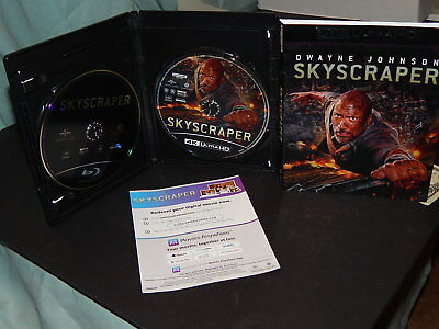 Skyscraper 4K Ultra Hd Blu Ray 2 Disc Set + Slipcover Sleeve