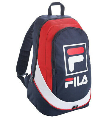 Authentic Fila Backpack In Classic Red White & Blue - Rucksack School Bag Day
