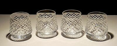 4 Vintage Waterford Alana Roly Poly Old Fashioned Tumbler Glasses  ~ Ireland