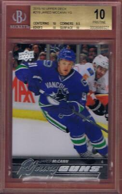 2015-16 UPPER DECK JARED McCANN YOUNG GUNS ROOKIE BGS 10 PRISTINE YG RC POP=3