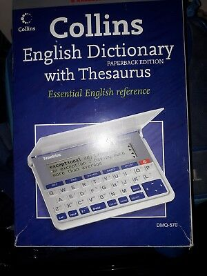 FRANKLIN DMQ570 ELECTRONIC Collins English Dictionary & Thesaurus