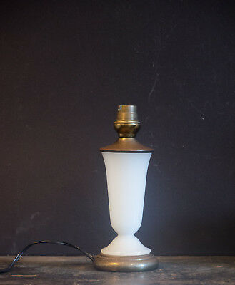 Small French art deco opalin glass table lamp bedside lamp 1930 - 1940