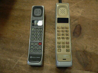 Two Vintage Motorola Brick Cell Phone , one thick and other thin