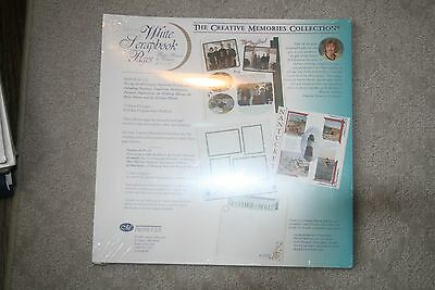 New Creative Memories 2000 12 x 12 White Pages Scrapbooking 15 sheets 30 pages