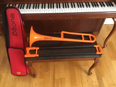 Jiggs pBone Student Model Plastic Trombone in Orange BRAND NEW.