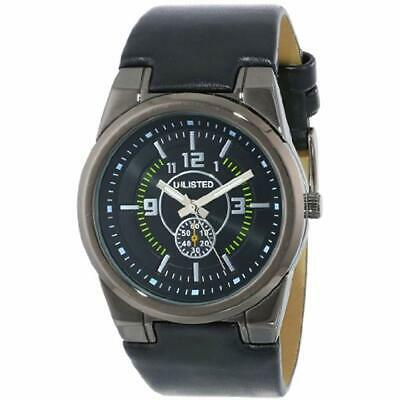 5a3c911bda6d Unlisted Watches Men S Ul1094 City Streets Triple Black Round Analog Watch  Gift