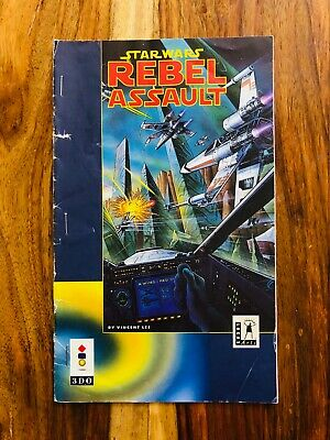 Star Wars Rebel Assault Panasonic 3DO Longbox Manual Only Rare