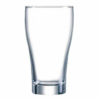 48x Arcoroc Conical Beer Glasses 425ml Cocktail Wine Drinking Tumblers Barware