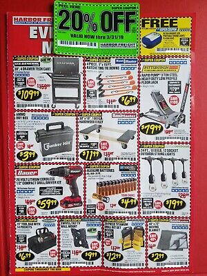 HARBOR FREIGHT COUPONS (20%off, Generator, Welder, Ladder, Saws) Exp 3/31/19