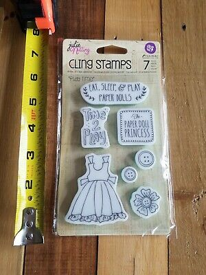 "Prima Mixed Media ""Play Time"" Doll Cling Stamps Julie Nutting 910730"