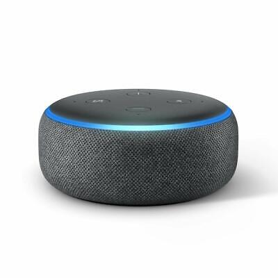 Amazon Echo Dot 3 (3rd Generation) Smart Assistant Speaker Charcoal - US plug