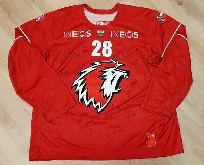 Lausanne Hc Match Worn Signed Ice Hockey Shirt Jersey #28 Gianni Size Xxl Adult