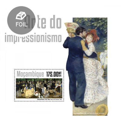 Mozambique 2014 Sheet Mnh Impressionism Art Paintings Impresionismo Arte 3A