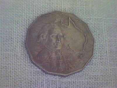 1970 Captain Cook 50c Coin - Circulated  & very collectable, or use a Jewellery