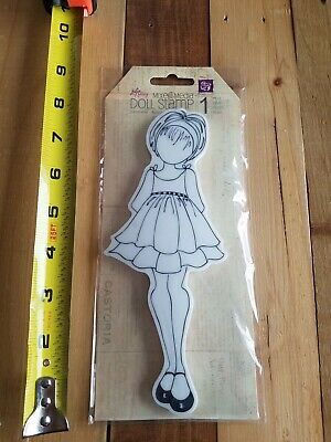 "Prima Mixed Media ""Abby"" Doll Cling Stamps Julie Nutting 910143"