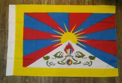 Vintage 1950s Foo Dogs Rising Sun Flag Banner Hotel Advertising Old Dyed Cotton