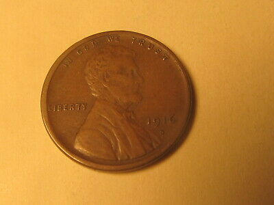 1916 S  Lincoln Wheat Cent Penny in VF+ Very Fine+  Condition