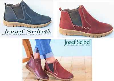 55400a5e395 NEW LEATHER COMFORT elastic Ankle Boots - Josef Seibel Shoes German Steffi  49