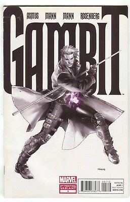 Gambit 1 5th Series Marvel 2012 VF 2nd Print B&W Clay Mann Variant