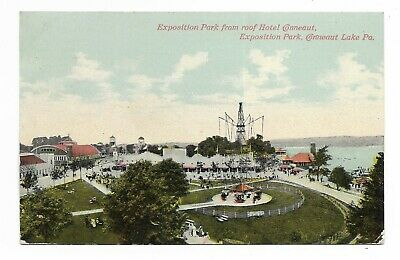 1910 Conneaut Lake Pa Exposition Park From Roof Of Hotel Conneaut
