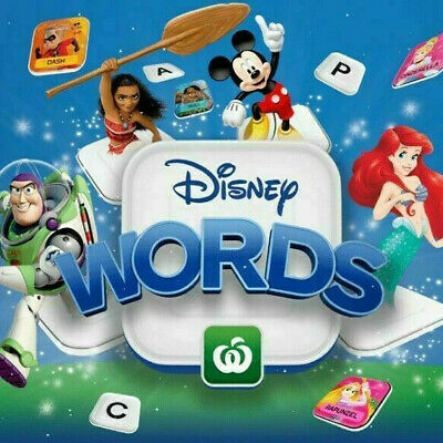 Woolworth Disney Words Tiles Choose Your Own Characters ALL Available & Full Set