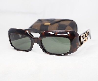 77183abce4f FENDI SL7521 sunglasses vintage brown gold massive zucca sides rectangular  green