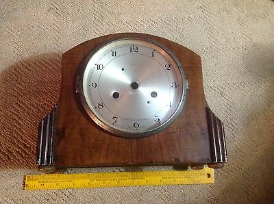 Antique Old Smiths Enfield Oak/Walnut Case&Faceplate Mantle Clock Made England