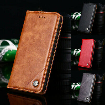 For Xiaomi Redmi Note 8 7 6 Pro Luxury Slim Leather Case Flip Card Wallet Cover