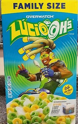 Kellogg's Overwatch Lucio Ohs Cereal, Vanilla 18.7 oz New Family Size Loot Boost