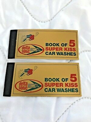 10 Delta Sonic Super Kiss Car Wash Tickets-never expire-New Sale Price
