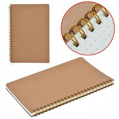 100 Pages A5 Design Dot Grid Exercise Book Kraft Cover Coil Journal Notebook